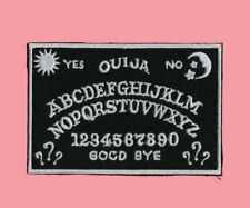 Ouija Board Easy Iron On Patch Sew black white Goth Pagan Mystic Wicca Spooky