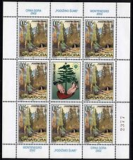 500 Montenegro 2002 Forests Protective Sheet, Engraver **MNH