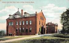 Medford Massachusetts Tufts College Library and East Hall Postcard J60032