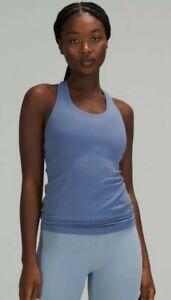 Lululemon Women's Blue Cool Racerback II Nulu Water Drop Athletic Top! Size 8