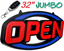 """Extra Large Bright LED Open Sign 32"""" Remote for Business Restaurant Store Bar"""