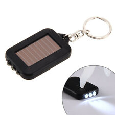 Rechargeable Solar Power 3 Light LED Electric Torch Flashlight Key Chain Torch