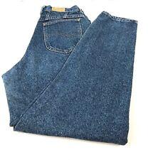 Vintage Lee Jeans 100% Cotton USA Straight Leg Mom Jeans Women's 12 Long