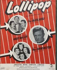 LOLLIPOP. -  BEVERLY ROSS —. SHEET MUSIC
