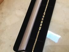 "Vintage 14K Yellow Gold Sapphire Diamond  7.25"" Bracelet - Gorgeous Must See"