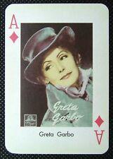 1 x playing card single swap Moviestars Greta Garbo Ace of Diamonds