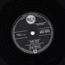 "CLASSIC 1957  UK #3 ELVIS PRESLEY 78 "" TEDDY BEAR / LOVING YOU "" UK RCA 1013 VG+"