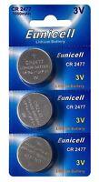 ☀️☀️☀️☀️☀ 3 x CR2477 3V Lithium Knopfzelle 1050 mAh(1Cards a 3 Batterien)Euni
