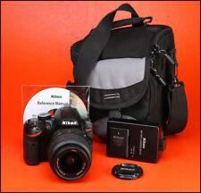 Nikon D3200 DSLR Caméra + Nikon AF-S 18-55 mm VR Zoom Lens Kit + seulement 9,450 coups