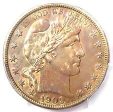 1909-S Barber Half Dollar 50C - Pcgs Uncirculated Details (Ms Unc) - Rare Date!