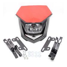 1x Red Headlight Fairing Kit Red For Honda XR CRF CR 150 230 250 450 Dirt Bike