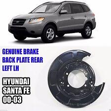 Genuine 5825126000 Brake Back Plate Rear LH Left For Hyundai SANTA FE 00-03