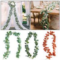 Decor Wedding Garland Wreath  Artificial  Leaves Rattan Foliage Eucalyptus Vine