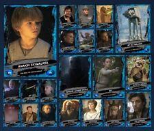 GALLERY-WAVE 2-BLUE 20 CARD SET+ANAKIN AWARD-TOPPS STAR WARS CARD TRADER