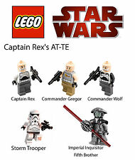 LEGO Star Wars Rebels Captain Rex's AT-TE Minifigures ONLY! Rex, Inquisitor,