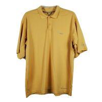 Columbia PFG Omni Shade Fishing Polo Shirt Short Sleeve Logo Yellow Mens Large