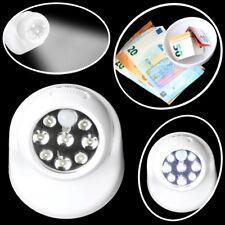 LED Spot & Safe in Einem 8 LED's Bewegungsmelder Alarm Kaltweiß Nachtlicht Lampe
