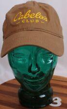 CABELA'S CLUB - LIGHT BROWN - ADJUSTABLE STRAPBACK BALL CAP HAT!