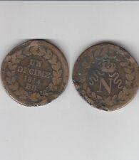 Gertbrolen  Blocus de Strasbourg  10 Centimes 1814 Napoléon Point après la date