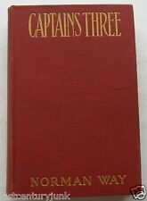 1st Edition Captains Three Norman Way Illustrated w/Stamp American Red Cross c12