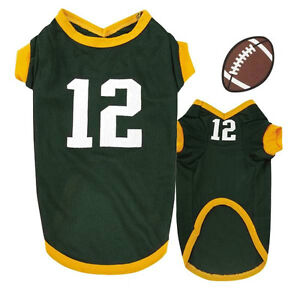 Aaron Rodgers Color & Number xLarge Dog Jersey Green Bay Packers CLOSEOUT!
