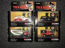 Corgi Texaco Die-Cast Car Lot. Ford Tanker, Model T, Pontiac Van, Dodge Airflow
