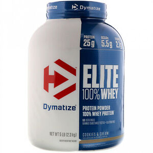Dymatize Nutrition, Elite 100% Whey Protein Powder, Cookies And Cream, 5 Lbs