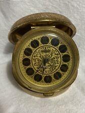 Elgin France 7 Jewel Folding Alarm Clock
