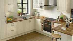 Homebase Country Shaker Light Cream Doors Larder Drawer Clad-on Panels All Sizes