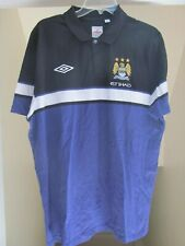 Manchester City Football Club Umbro Polo Shirt Size 2XL XXL Purple UEFA CL