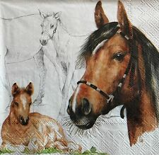 3 SET DECOUPAGE NAPKINS HORSE ART SUPPLY  NEW