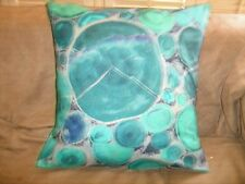 TREE RINGS TURQUOISE PILLOW COVER  FABRIC RARE OUT OF PRINT UNIQUE