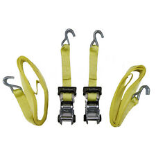 """2x Heavy-Duty 2"""" x 14-Ft Ratchet Ratcheting Tie-Down Hook Cargo-Straps (2-Pack)"""