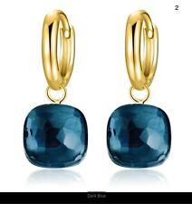 Gold Color 925 S Silver Elegant Blue663 New listing