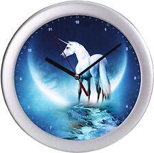 Einhorn Wanduhr Kinderwanduhr Kinderuhr Uhr Fantasy Fabelwesen Unicorn