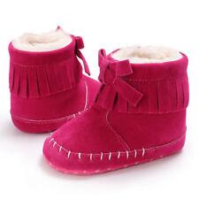 Bebé Niña Suela Blanda Botines botas de nieve para niños recién nacido