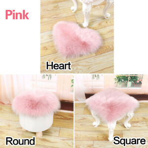 Soft Fluffy Sheepskin Style Faux Fur Rugs Chair Cover Bedroom Hairy Carpet Seat