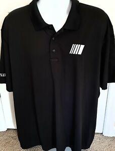 3XL NASCAR Official Employee Issued 5.11 black Polo Shirt Cup Xfinity Truck ARCA