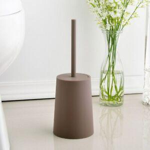 Toilet Brush Deep Cleaner Silicone Brush No-Slip Long Plastic Handle   Bristle