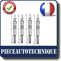 4 BOUGIES DE PRECHAUFFAGE RENAULT KANGOO CLIO III 3 1.5 D DCI REF: 502022