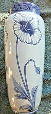 vase faience FIVES-LILLE D.B.Art Nouveau 1900 decor pavots 34 cm jugendstil