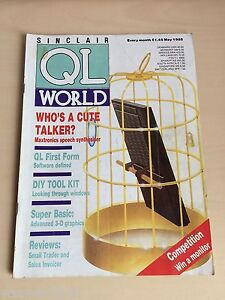 Sinclair QL World Magazine ~ may 1988 ~ Computer Articles ~ GOOD CONDITION