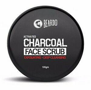 Beardo Activated Charcoal Deep Cleansing Face Scrub, 100g x 2 (free shipping)