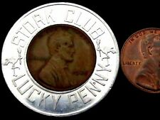"""T124: 1938 US 1c Coin in """"STORK CLUB LUCKY PENNY"""" Surround. Expectant Parents?"""