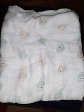 Aiden And Anais Swaddle Blanket, Unisex, Owl Print, Barely Used, W/ Instructions