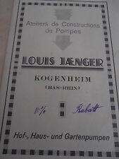 catalogue de pompe a bras KOGENHEIM  ( ref 3 )