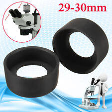 2PCS Eye Guards Binocular Microscope eyepiece Eye Piece 29-30mm Rubber eye cups