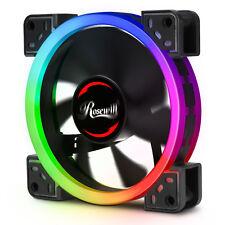 120mm RGB Case Fan, Dual Ring True RGB LED, Ultra Quiet Long Life Rifle Bearing