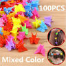 100PCS Mini Mixed Color Butterfly Hair Clips Claw Barrettes Jaw Clip Hairpin