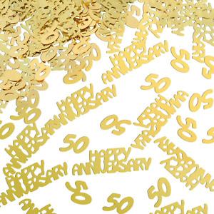 Anniversary Confetti Glitter Table Decorations 4 Bags Gold 50th for Party Decor